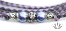 Kangaroo leather show lead in lavender & grey - Emoticon Kangaroo Leather Show Leads