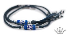 Kangaroo leather show lead in navy - Emoticon Kangaroo Leather Show Leads