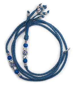 Kangaroo leather show lead in jacaranda - Emoticon Kangaroo Leather Show Leads
