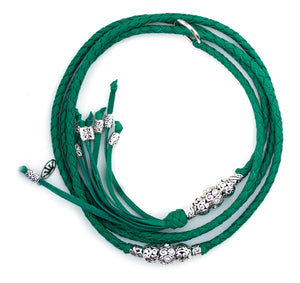 Kangaroo leather show lead in jade