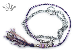 Kangaroo leather show lead in lavender & purple - Emoticon Kangaroo Leather Show Leads