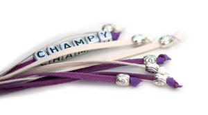 Kangaroo leather show lead in moroccan purple & white