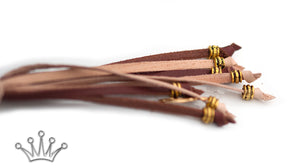 Kangaroo leather show lead in natural & brandy - Emoticon Kangaroo Leather Show Leads
