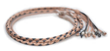 Kangaroo leather show lead in natural & grey