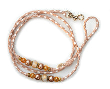 Kangaroo leather show lead in natural & white - Emoticon Kangaroo Leather Show Leads