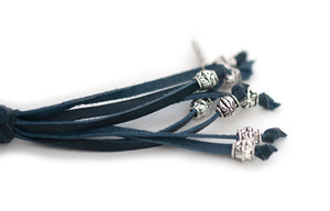 Kangaroo leather show lead in navy