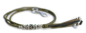 Kangaroo leather show lead in olive