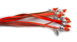 Kangaroo leather show lead in orange - Emoticon Kangaroo Leather Show Leads