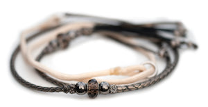 Kangaroo leather show lead in pewter