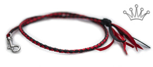 Kangaroo leather show lead in red & black - Emoticon Kangaroo Leather Show Leads