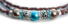 Kangaroo leather show lead in whisky, baby blue & pewter
