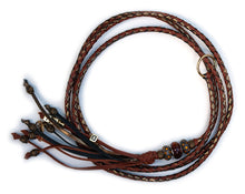 Kangaroo leather show lead in whisky & bronze - Emoticon Kangaroo Leather Show Leads