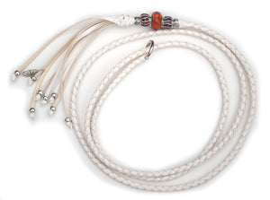 Kangaroo leather show lead in white