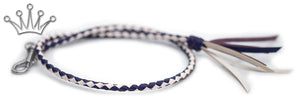 Kangaroo leather show lead in white & purple - Emoticon Kangaroo Leather Show Leads