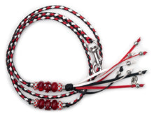 Kangaroo leather show lead in black, red & white - Emoticon