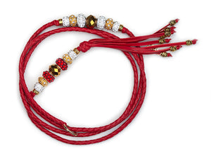 Kangaroo leather show lead in red - Emoticon Kangaroo Leather Show Leads