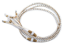 Kangaroo leather show lead in gold & white - Emoticon Kangaroo Leather Show Leads