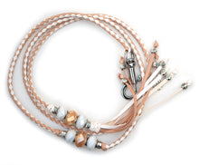 Kangaroo leather show lead in natural & white