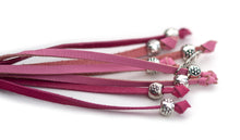 Kangaroo leather show lead in soft pink & hot pink