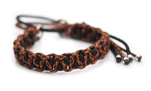 Martingale paracord collar in Leopard / Black