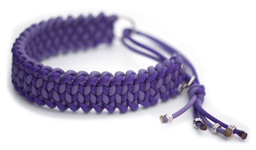 Martingale paracord collar in Lilac / Acid Purple