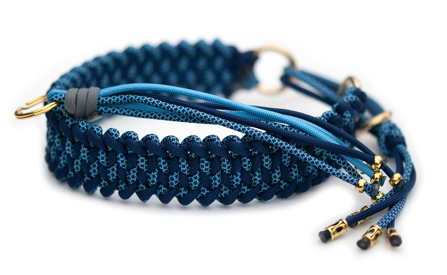 Martingale Paracord Collar Emoticon Kangaroo Leather Show Leads