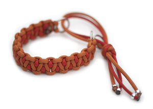 Martingale paracord collar in Mustard / Solar Orange