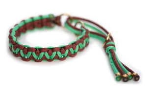 Martingale paracord collar brown mint
