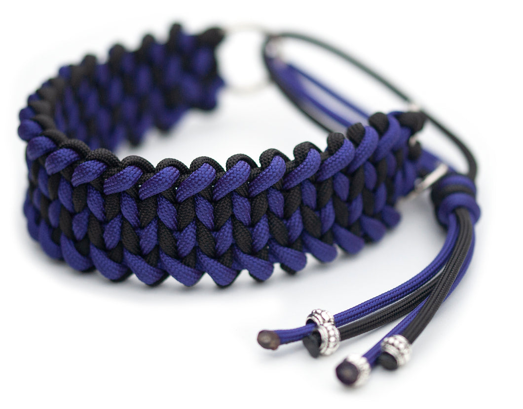 Martingale paracord collar in Royal Purple / Anthracite