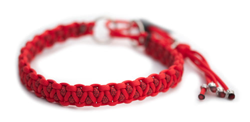 Martingale paracord collar in Simply Red / Copper Red & Simply Red Diamonds