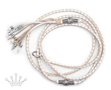 Kangaroo leather show lead in white & natural - Emoticon Kangaroo Leather Show Leads