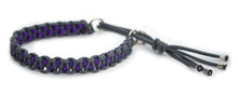 Paracord collar grey purple
