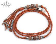 Kangaroo leather show lead in saddle tan - Emoticon Kangaroo Leather Show Leads