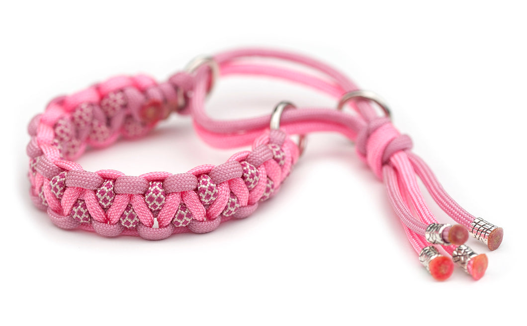 Paracord collar pink