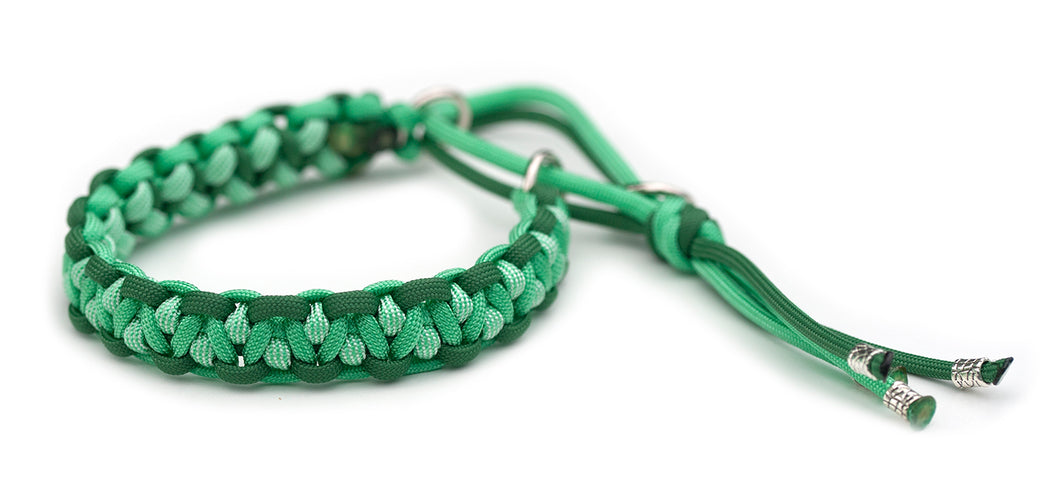 Paracord collar green