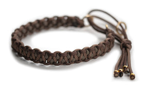 Paracord collar brown