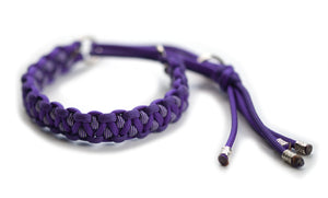 Paracord collar purple