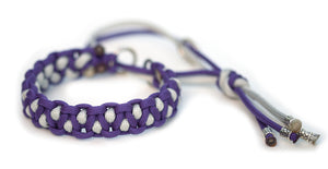 Paracord collar purple grey martingale