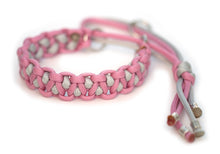 Paracord collar grey pink