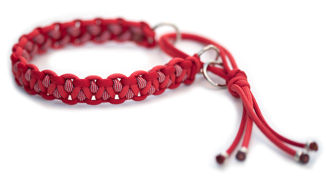 Paracord collar red