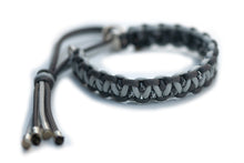 Paracord martingale collar grey silver