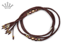 Kangaroo leather show lead in brandy - Emoticon