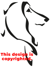 Afghan Hound head sticker/decal in adhesive vinyl