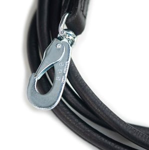 round leather lead black