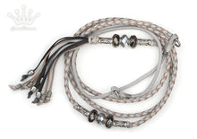 Kangaroo leather show lead in dove grey - Emoticon