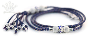 Kangaroo leather show lead in purple - Emoticon Kangaroo Leather Show Leads