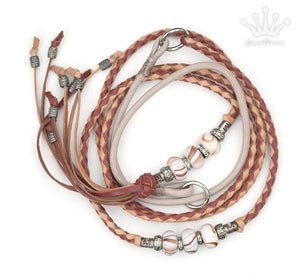 Kangaroo leather show lead in natural & roan - Emoticon Kangaroo Leather Show Leads