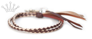 Kangaroo leather show lead in natural & whisky - Emoticon Kangaroo Leather Show Leads