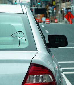Saluki (smooth) sticker - Emoticon Kangaroo Leather Show Leads