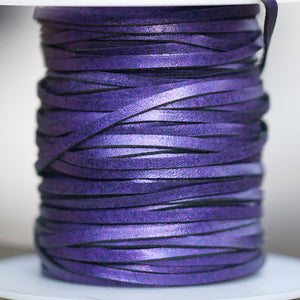 Kangaroo Leather Lace - Purple Glitter
